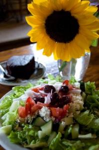 The Greek Salad and Vegan Cake