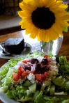 The Greek Salad and Vegan Cake by Meredith Hart